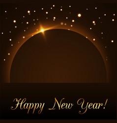 Happy new year background magic gold rain vector