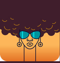 head a girl african nationality vector image