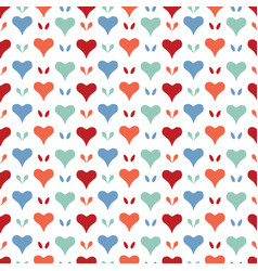 hearts all over print romantic love heart vector image