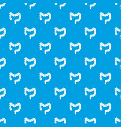 human large intestine pattern seamless blue vector image