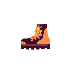 Icon climbing high shoes flat cartoon vector