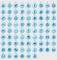 Iconslikedrops vector