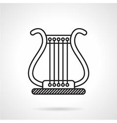 Lyre black line icon vector