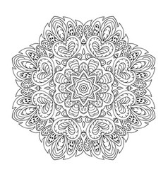 Mandala pattern doodle drawing round ornament vector