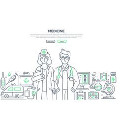 medicine - line design style vector image