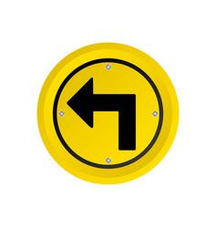 Metallic realistic yellow circular frame turn left vector