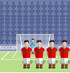 Morocco soccer club penalty on a stadium vector