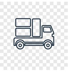 moving truck concept linear icon isolated on vector image