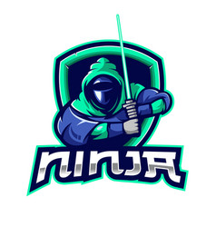 ninja logo with transparent background vector image