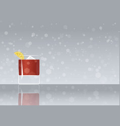 Official cocktail icon the unforgettable sazerac vector