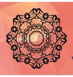 Ornament card with mandala like design Geometric vector image