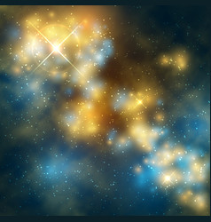 outer space abstrac background with cosmic vector image