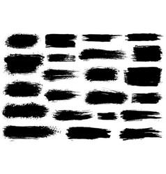 paint brush black ink grunge brush strokes vector image