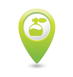 perfume icon green map pointer vector image