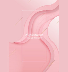 Pink waved overlap background with copy space vector