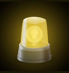 Realistic flasher siren vector