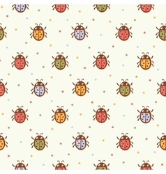 Seamless pattern with Ladybugs vector image vector image