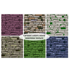 seamless texture different colored old stone wall vector image