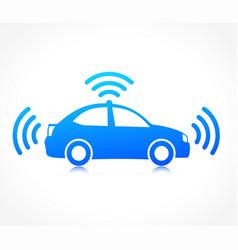 self driving symbol icon vector image