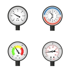 set of manometers vector image