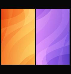 set vertical abstract backgrounds vector image