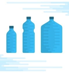 set water bottles vector image