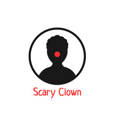 simple black scary clown icon vector image