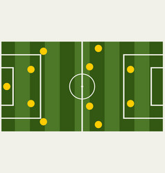 Soccer tactic info graphic vector