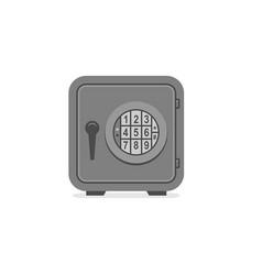 steel safe vector image