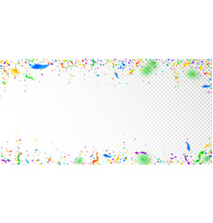 Streamers and confetti colorful tinsel vector