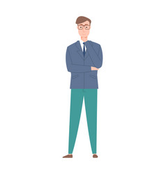 Successful and confident person businessman male vector