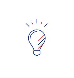 Thin line light bulb smart solutions vector
