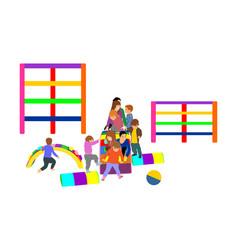 toddler children slide down kids get down toboggan vector image