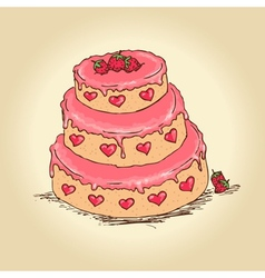 valentine cake vector image