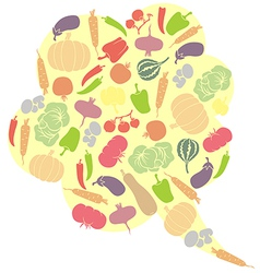 vegetables balloons vector image