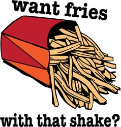 Want Fries vector