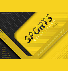 yellow-black background in sport design style vector image