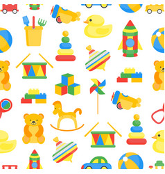 child toys color background pattern on a white vector image