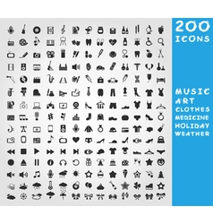 Collection of icons vector image vector image
