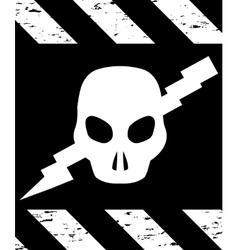 Skull Symbol Danger vector image