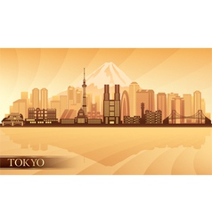 Tokyo city skyline silhouette vector image vector image