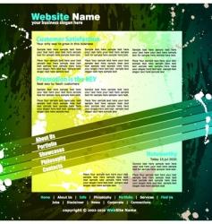 web design template vector image