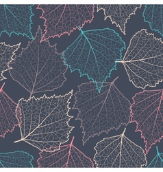 Colorful leaf silhouettes seamless vector image vector image