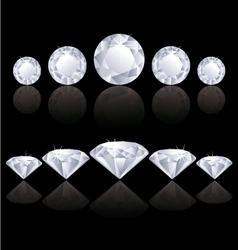 Diamonds lines vector