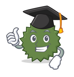 Graduation durian character cartoon style vector