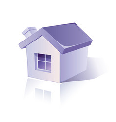 icon of simple house vector image