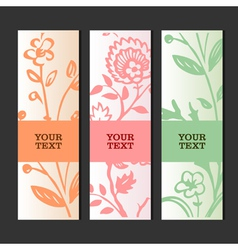 Invitation or greeting card with floral background vector image