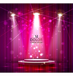 pink stage vector image