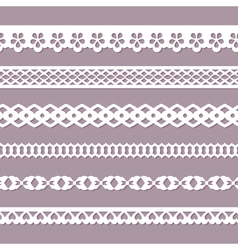 seamless paper laces vector image