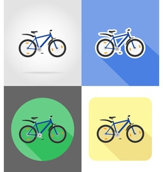 transport flat icons 56 vector image vector image